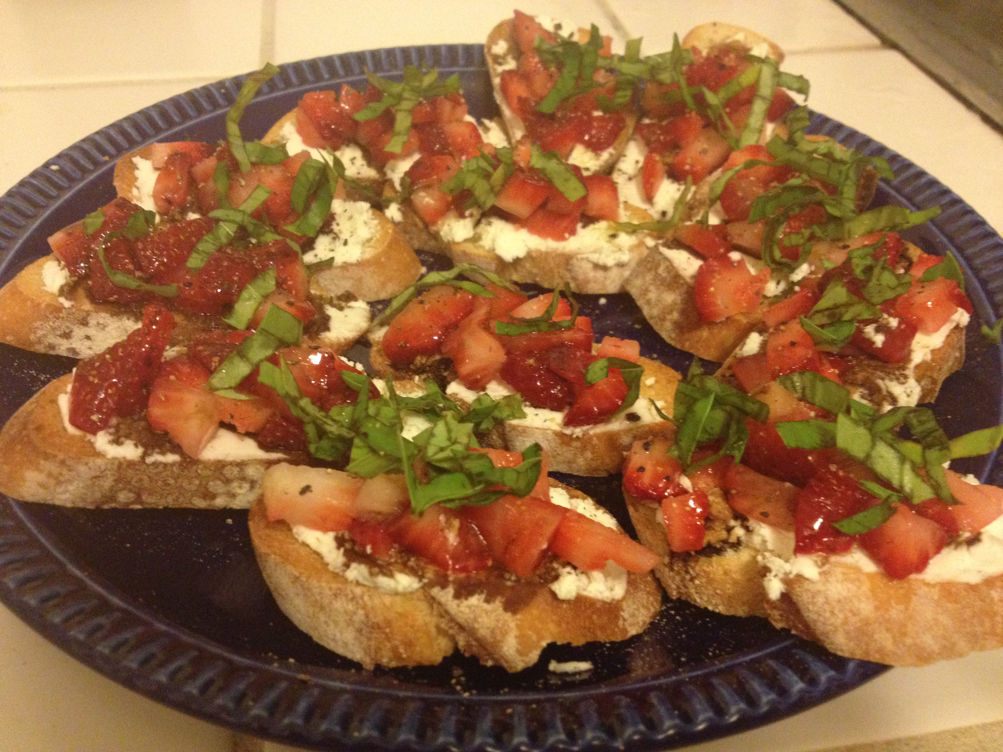 Strawberry Bruschetta With Balsamic Vinegar And Basil Recipes ...