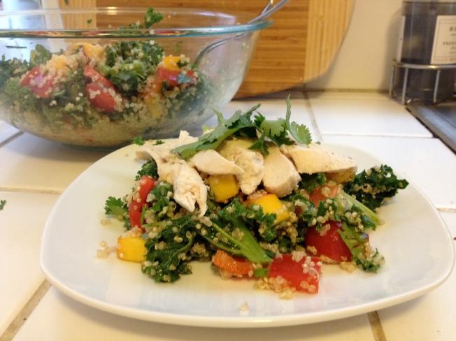 Quinoa Salad with Mango and Chicken