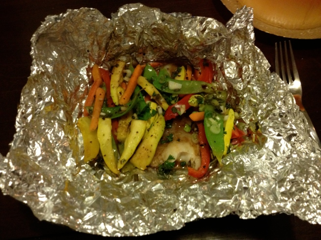 Foil-Baked Tilapia with Vegetables