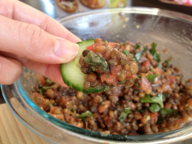 Bruschetta and Lentil Dip