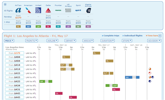 ITA Matrix - Booking Airfare