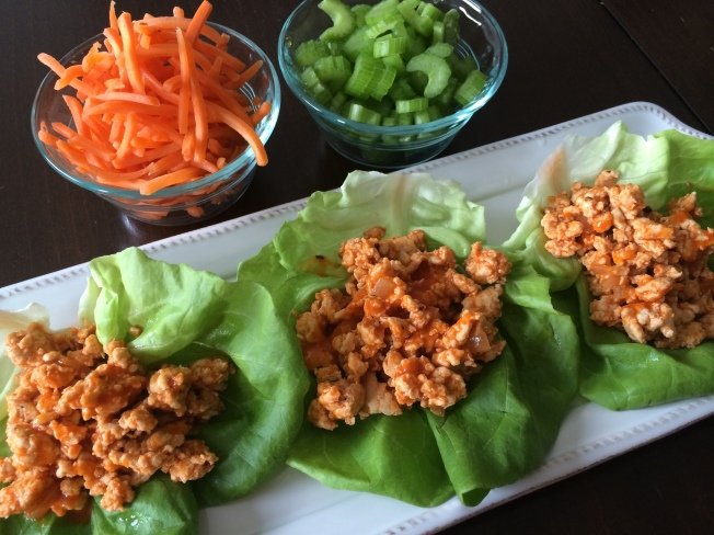 Buffalo Turkey Lettuce Wraps