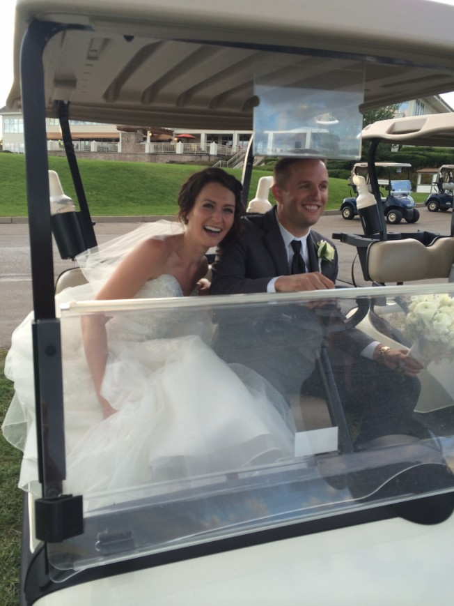 Betsy's wedding golf kart 1