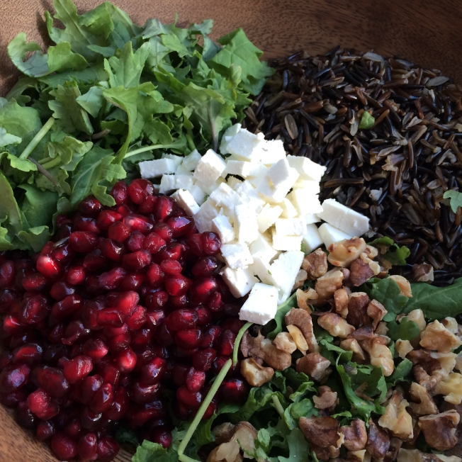 Kale and Wild Rice Salad Ingredients