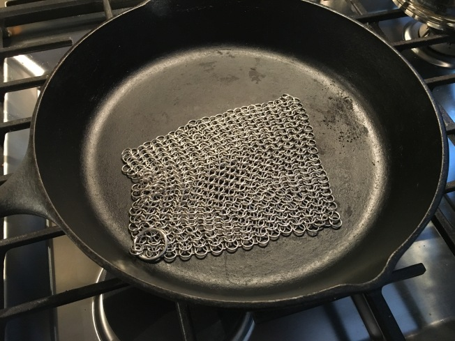 Stocking Stuffer: Cast Iron Scrubber